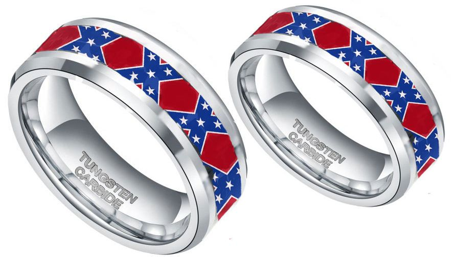 Buy Couples Rings Sets with American Flag