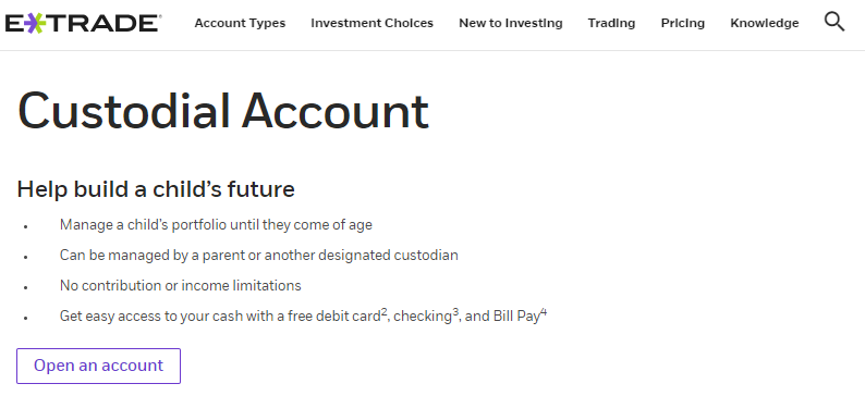 Custodial Stock Account
