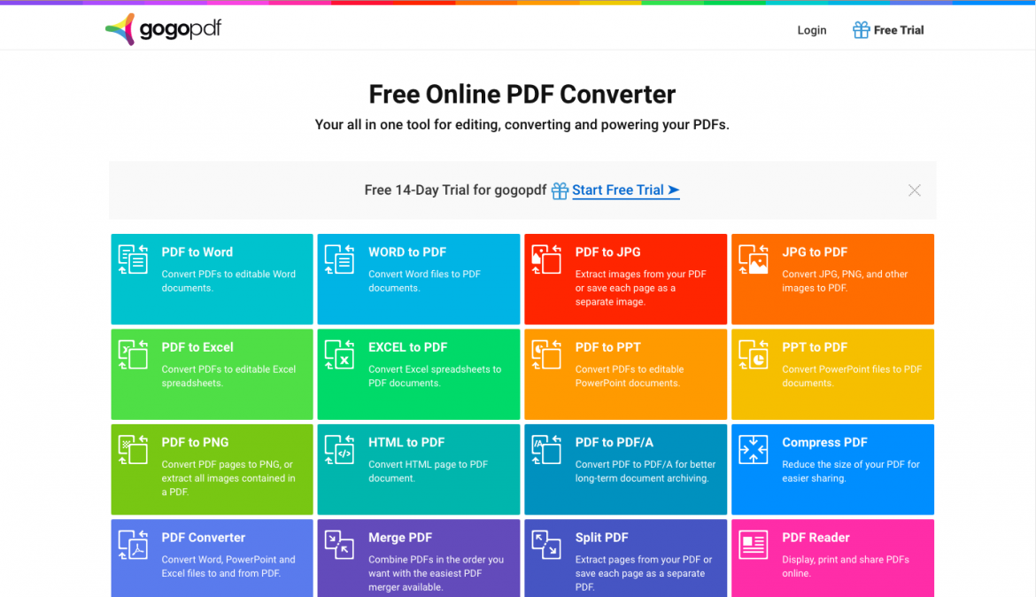 Three Other Features Of GoGoPDF That You Can Use For Free