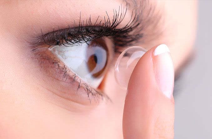 Brown and Grey contact lens differences