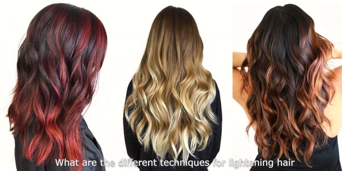 What Are The Different Techniques For Lighten Hair?