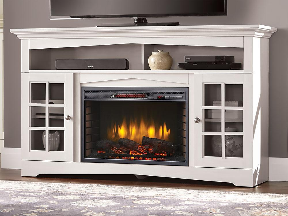 Design Your Living Room With White Color Fireplace