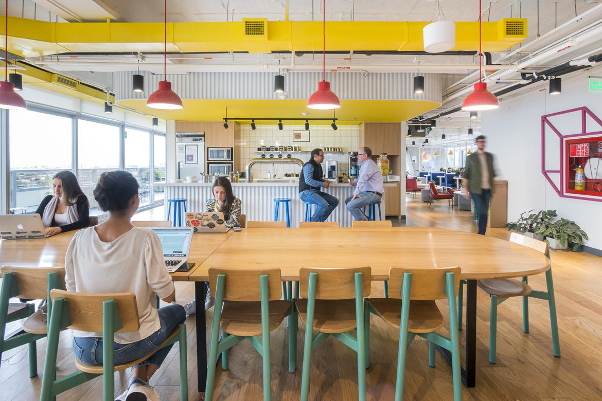 How does working from coworking spaces help in work-life balance