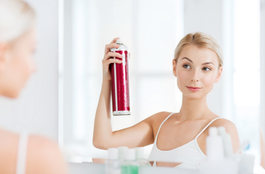 What does a hair spray do?